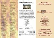 Infos im Mohr-Villa Flyer - Bücherlesung