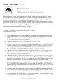 Level 1 Taskliste Stand 1. Juni 2011 - HETS