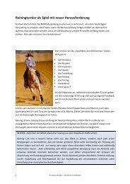 Bericht von Andrea Waeber - Schule für Natural Horsemanship