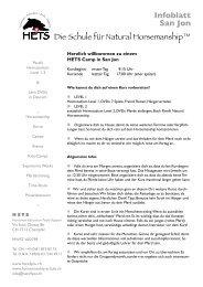 Infos und Wegbeschreibung - Schule für Natural Horsemanship