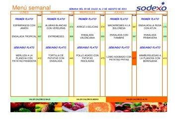 Copia de 2013-08 MENU SODEXO - STM Intersindical Valenciana