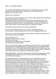 Erlebnisbericht von Stefan Rohr, aus D-München - Schule für ...