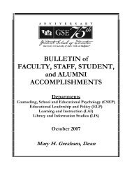 Bulletin of faculty, staff, student, and alumni - UB Graduate School of ...