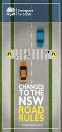 Changes to the NSW road rules - 1 November 2012