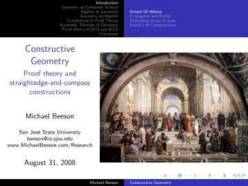 Constructive Geometry - Michael Beeson's Home Page