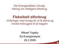 Fleksibelt elforbrug - Ea Energianalyse