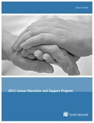 2013 Cancer Education and Support Program - North Memorial ...