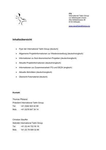 Medienmaterial - International Takhi Group