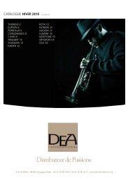 Catalogue HIVER 2010 Prix indicatifs - DEA International