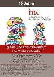 10 Jahre IMK - Programm