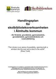 handlingsplan för skolbiblioteksverksamhet.pdf - Älmhults kommun