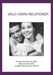 Broschyr Våld i nära relationer - Ljungby