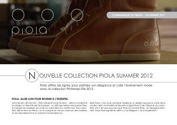 N OUVELLE COLLECTION PIOLA SUMMER 2012