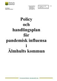 Policy och handlingsplan för pandemisk influensa i Älmhults kommun
