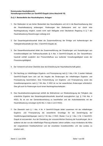 VV zu GemHVO-Doppik - web-portal-system.de