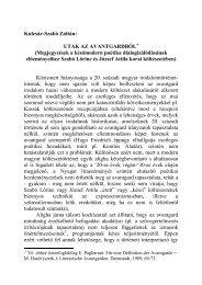 UTAK AZ AVANTGARDBÓL - Szabó Lőrinc