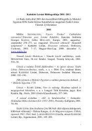 Kabdebó Lóránt - bibliográfia folytatása 2001-től - Szabó Lőrinc
