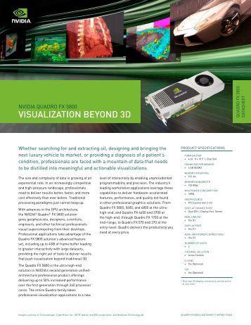 VISUALIZATION BEYOND 3D