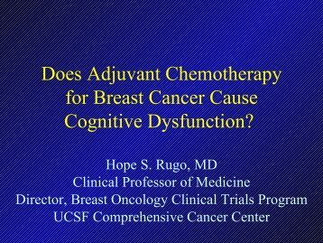 Does Adjuvant Chemotherapy For Breast Cancer Cause Cognitive