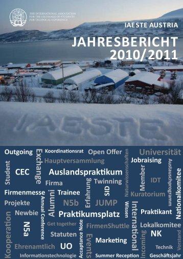 JAHrESBErICHT 2010/2011 - IAESTE Austria