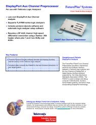 DisplayPort Aux Channel Preprocessor - FuturePlus Systems