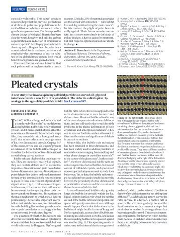 Pleated crystals
