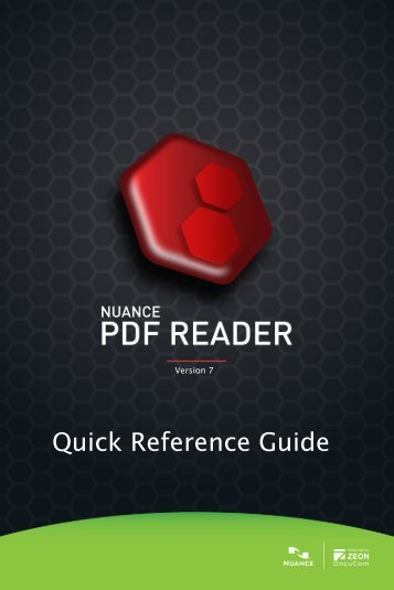 PDF Reader 7 Quick Reference Guide - Nuance