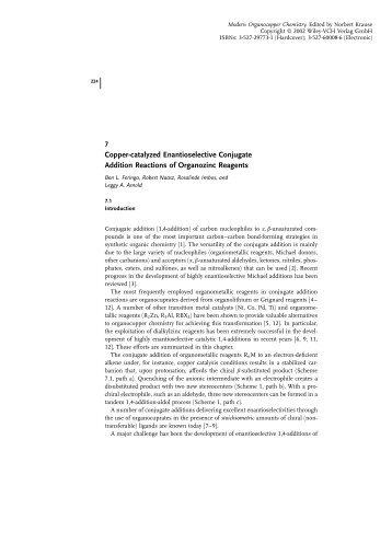Copper-catalyzed Enantioselective Conjugate ... - Nouvelle page 1