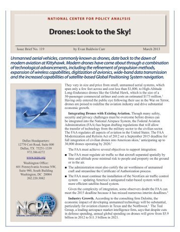 Drones - National Center for Policy Analysis