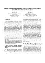 Principle of Autonomous Decentralized Flow Control and Layered ...