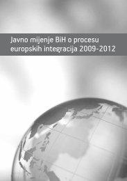 Javno mijenje BiH o procesu europskih integracija 2009-2012