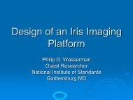Design of an Iris Imaging Platform - Biometrics - NIST