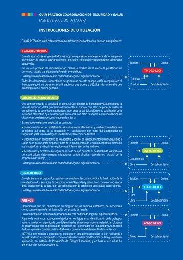 INSTRUCCIONES DE UTILIZACIÓN - Aparejadores de Madrid