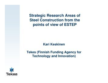 Strategic Research Areas of Steel Construction from the points of ...