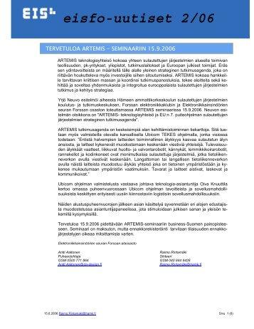 eisfo-uutiset 2/06 - Hämeen ammattikorkeakoulu