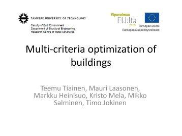 Multi-criteria optimization of buildings