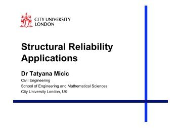 Structural Reliability Applications