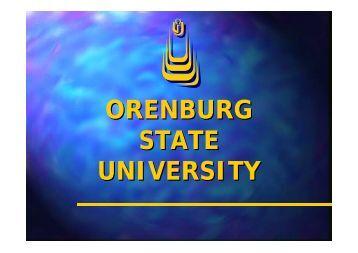 ORENBURG STATE UNIVERSITY