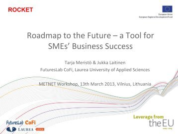 Roadmap to the Future – a Tool for SMEs' Business Success
