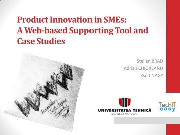 Product Innovation in SMEs: A Web-based Supporting Tool and ...