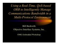 Using a Real-Time, QoS-based ORB to ... - Object Management Group