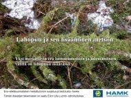 Lahopuu ja sen lisääminen metsiin (6Mt)