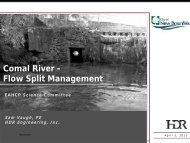 Comal River - Flow Split Management - EAHCP