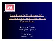 Lead Issues In Washington, DC - American Water Works Association