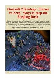 Starcraft 2 Strategy - Terran Vs Zerg - Ways to Stop the Zergling Rush