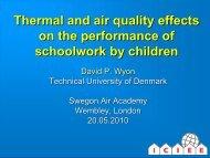 David Peter Wyon - Swegon Air Academy