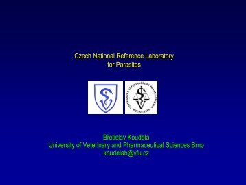 Czech National Reference Laboratory for Parasites Břetislav ...