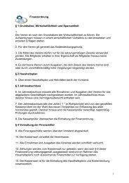 1 Finanzordnung § 1 Grundsätze, Wirtschaftlichkeit und Sparsamkeit ...