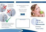 Flyer zum Thema Zahnersatz