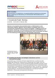 1. Transnationaler Projekt - Workshop am 29.02. – 02.03 ... - Pasoc